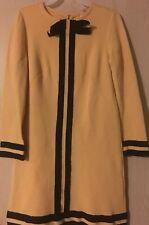 J4 VTG Emery Knits MICIA JR of ROME Dress Miss Bergdorf Goodman Mod Mustard XS