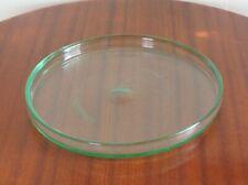 Grande coupe à fruits plat Daum Nancy cristal art déco vert d'eau design