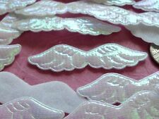 100! Cute Padded Angel & Fairy Wings - Iridescent White Wing Embellishments!