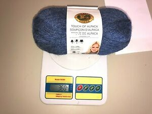 Lion Brand Touch of Alpaca Yarn each ball are 207 yards