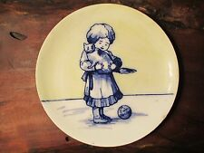 Royal Doulton Flow Blue Plate I Love Little Pussy Jane Taylor Nursery Rhyme