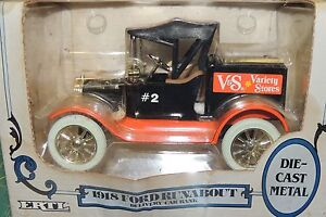 1918 FORD RUNABOUT DELIVERY''V & S'' CAR BANK Ertl 1:25 (G) SCALE !