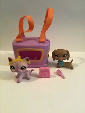 Littlest Pet Shop #932 #933 Dachshund & Cat w/Accessories
