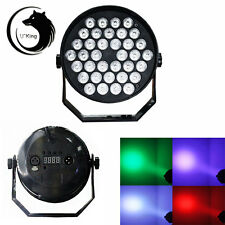 36W LED RGB Stage Lights DMX-512 3in1 6CH Par Disco Party Pub DJ Lighting Black