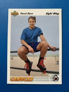 Pavel Bure 1991-92 Upper Deck Rookie Hockey Card #54 Vancouver Canucks