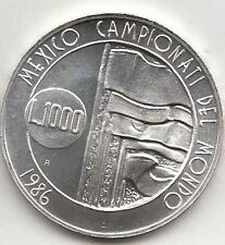 MONETA SAN MARINO LIRE 1000 ARGENTO CALCIO MONDIALI '86