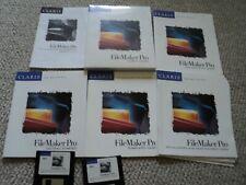 Vintage Claris Works FileMaker Pro 2.0 Macintosh Floppy Disks Mac w/Manual 1994
