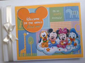 Baby Disney characters Baby Shower / birthday guest book, album, baby gift