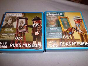 PLAYMOBIL 70456 Rembrandt & 70475 Vincent van Gogh Sonderfiguren NEU OVP RIJKS