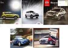 Kia Soul Nissan Rogue Sport Elantra + Bonus Lot of 6 New Brochures