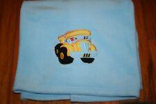 Party Destination boys blue school bus baby blanket
