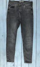 Topshop Washed Grey High Waist Jamie Skinny Jeans W28 L30 Size 10 - B12
