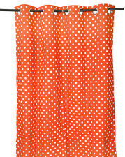 55 x 98 in. Grommet Curtain Polka Dots Coral