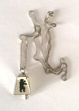 925 STERLING SILVER OFFICIAL MASCOTS SALT LAKE 2002 BELL PENDANT CHAIN NECKLACE