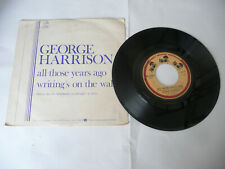 "GEORGE HARRISON""ALL THOSE YEARS AGO-DISCO'45 DARK HORSE It 1981"