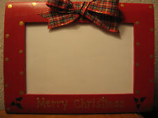 MERRY CHRISTMAS - family holiday photo picture frame