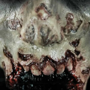 Tinsley Transfers Zombie Missing Jaw Prosthetic Special Effects Makeup 3D FX