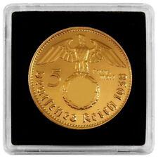+++ 5 Reichsmark 1939 mit HK und Kapsel - 24 Karat vergoldet +++