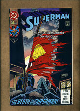 HTF 1993 Superman #75 Death Of Superman NM- Third Print DC Comics Doomsday