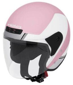 Held Roller Motorrad Open Face Jethelm Heros in weiß/pink Größe M Neu