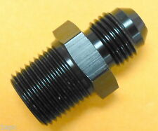 Russell 660463 Straight Male Adapter Fitting AN6 -6 6AN Flare to 3/8 NPT Black