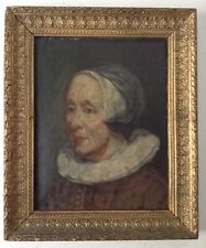 Beautiful Dutch Old Master Painting Lady portrait Oil Panel Follower Frans HALS