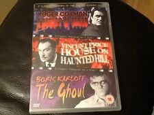 A BUCKET OF BLOOD / HOUSE ON HAUNTED HILL / THE GHOUL 3 HORROR CLASSICS REGION 0