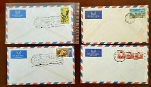 4 BURMA COVERS, AIR MAIL 1969/1956/1963 YEAR