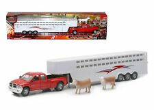 NEWRAY 1:32 LONG HAUL TRUCKER DODGE RAM 3500 FIFTH WHEEL WITH COWS SS-10923D