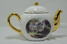 "Thomas Kinkade ""Home is Where the Heart Is Ii"" by Teleflora Gift 4 Cup Tea Pot"