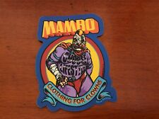 """MAMBO """" CLOTHING FOR CLOWNS """" 1997 LABEL BY STEVE BLISS"""