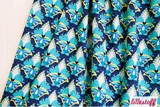 Lillestoff Marrakesch (Webware) Blumen blau weiß gelb 100% Bio-Baumwolle