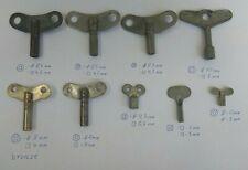 Lot 9 vintage clock keys  Steampunk parts