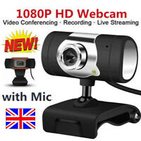 USB 2.0 HD Web Cam Camera Webcam w/Microphone for Computer PC Laptop Desktop UK