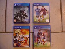 "4 JEUX POUR PS4 "" DESTINY 2 ET DRAGON BALL XV XENOVERSE "" AINSI QUE 2 FIFA !!!!"