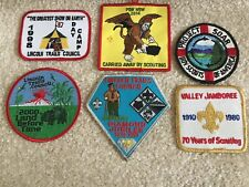 Lot of 6 Boy Scout Patches 1980-2014-Lincoln Trails Springfield, Illinois & Var
