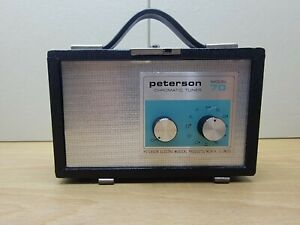 Peterson Chromatic Tuner Model 70  Preowned Working Condition Missing Cover