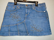 JUICY COUTURE  WOMANS EMBELLISHED JEAN SKIRT SIZE 27