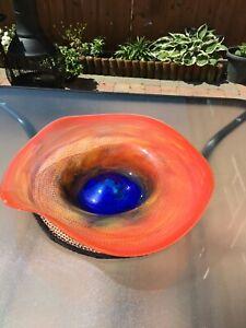 Stunning Art Glass Glass Large Centrepiece - Fruit Bowl **Perfect**