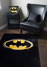 Ultra Soft Area Rug Featuring the Dark Knight's Symbol Perfect for Batman Fan