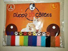 12 pack Puppy Kitten Id Collars Breeders Identify Self Fastening Washable Cute!