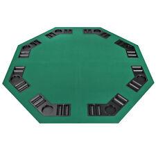 Four Fold 8 Player Poker Table Top Velvet W/Bag Portable Green Party Game Ez Set