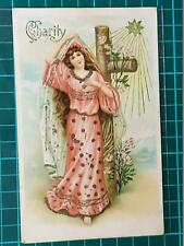 1900`s Antique Fantasy Postcard Charity Religious Young Women by Beagles Used
