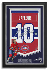Guy Lafleur Facsimile Signed Montreal Canadiens Jersey Arena Banner Museum Frame