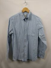 Mens Old Navy Blue Striped Button Oxford Shirt  Size Small #2F4