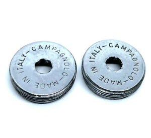 Campagnolo Super/Nuovo Record Crank Dust-Caps Chrome Steel Vintage Made In Italy