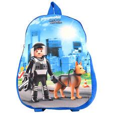 Playmobil City Action Polizei - Kinder Rucksack Tasche Schulrucksack Blau