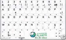 Stickers autocollants Clavier AZERTY Touches Blanches