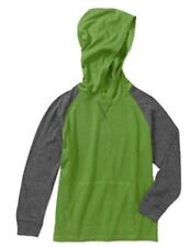Clothes - Wrangler Boys' Size 4-5 Green/Gray Solid Long Sleeve Pullover Hoodie