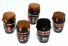 African Drum of Wood and Leather, Original Percussion Musical  Instruments Sale